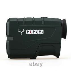 Gogogo Sport 1200 Yards Laser Range Finder, Chasse Avec Flagpole Lock Rang