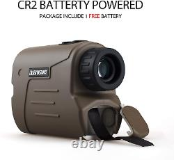 Gogogo Sport Laser Golf / Hunting Rangefinder 1200 Yards 6x Laser D'agrandissement &