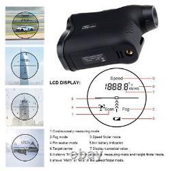 Golf Laser Range Finder 600m Mesure De Vitesse De Hauteur De Distance Rangefinder De Chasse