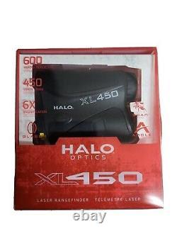 Halo Optics Xl450 Laser Rangefinder Scan Mode 450 Yards 6× Grossissement Nib Nouveau
