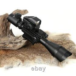 Illuminated Rangefinder Reticle Scope Tactical Hunting Olographic Laser Rouge