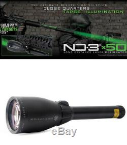 La Chasse Nd. 3 X50 Laser Vert Génétique Interurbaine Désignateur W 1 ' ' Embasses