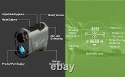 Laser Range Finder Riflescope Rifle Portée Mesure De Distance De Chasse 800 Yard