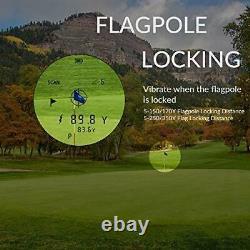 Laser Rangefinder, Golf & Chasse Range Finder Avec Slope, Pinsensor 650 Yard