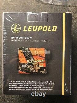 Leupold Rx-1600i Tbr / W Blaze Orange Télémètre Laser Avec De L'adn 173806