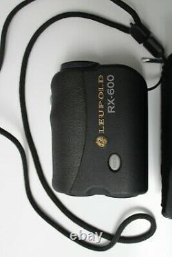 Leupold Rx-600 Rangefinder 6x 23 MM Laser Range Finder Rd27222w Avec 2 Piles