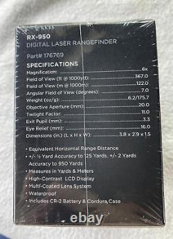Leupold Rx-950 Laser Rangefinder (249 $ Msrp) Nouveau Package Scellé