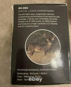 Leupold Rx-950 Laser Rangefinder Black Store Display Couverture De Batterie Manquante