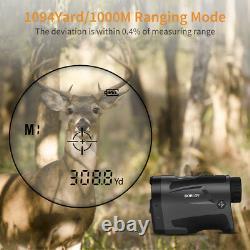 Lf1000s Hunting Golf Laser Rangefinder 6x22 Optical 6-1000m Télescope Monoculaire