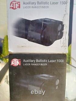 Lot Tout Comme Atn Corporation 1000 Et 1500 Auxiliary Ballistic Laser Rangefinder