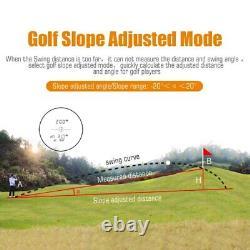 Mileseey 600m Golf Hunting Laser Rangefinder Slope Mode Sport Distance Meter