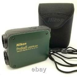 Nikon 8x20 Prostaff Laser 440 Résistant À L'eau Rangefinder + Cas. Niveau