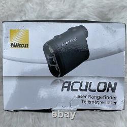 Nikon Aculon Al11 Laser Rangefinder Black Dark Green Hunting Golf Champ D'application Nouveau