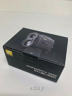 Nikon Monarch 3000 Ml910 6x 21mm Laser Stabilisé Golf Télémètre 16556 Noir