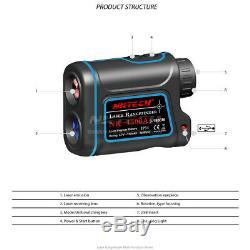 Nktech Télémètre Laser Télémètre Télémètre 600m 1000m 1200m 1500m Golf