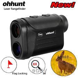 Ohhunt Nouvelle Chasse Optique Multifonction Laser Télémètre 8x 600 800 1500m Golf
