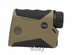 Sig Sauer Kilo2400abs 7x25mm Digital Ballistic Laser Range Finder Monoculaire, Fde