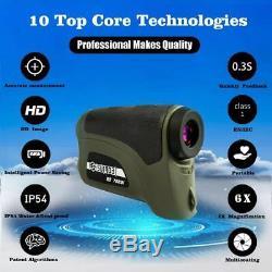 Surgoal Hd 1600yd Télémètre Laser Étanche 6x-mag-0.3s Incroyable Capture Temps