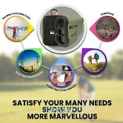 Surgoal Hd Golf & Hunting Laser Rangefinder 650yd & 1000yd Plus Grand Champ De Vision