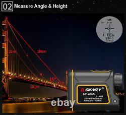 Sw-1000un Télémètre Laser Chasse Télescope Monoculaire 1000m
