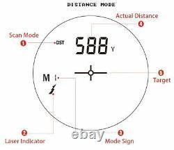 Télémètre Laser Camo Mesures 600m Interurbaine À Longue Distance Tir