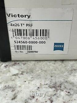 Zeiss Optical Victory 8x26 T Prf Laser Range Finder Noir Monoculaire